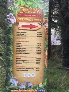 Fota Wildlife Park opening times