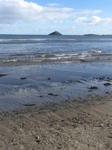 Ballynamona Beach, view to Ballycotton lighthouse