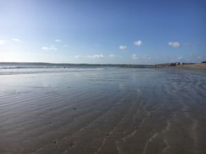 Garryvoe Beach, view to the holiday homes