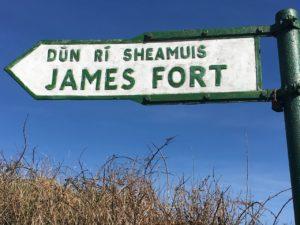Kinsale, Hinweisschild zum James Fort