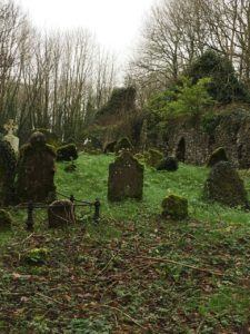 Castlemartyr, Ballyvoughtera church ruin small gravestones