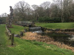 Castlemartyr, stream to lake in Castlemartyr hotel