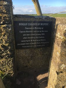 Ballycotton Cliffwalk, commemorative plaque that inspires to tell stories