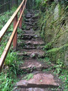 Ballard waterfall, stairs made of stone