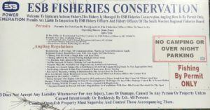 Curraleigh, ESB-Walk, Information about fishing