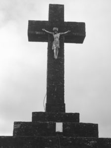Corrin Hill, the cross at the summit