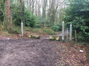 Garryduff, link path to the barrier