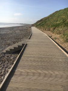 Youghal wheel chair friendly boardwalk at Claycastle beach