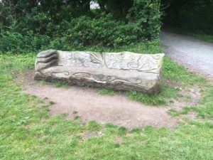 Doneraile Wildlife Park, wooden bench