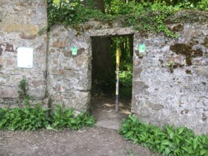 Garretstown woods, arch at the entrance